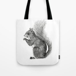 Squirrel in Pen Tote Bag