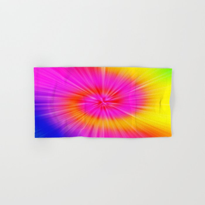 TIE DYE #1 (Rainbow Colors) Hand & Bath Towel