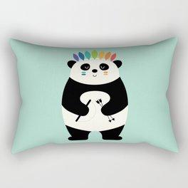 Be Brave Panda Rectangular Pillow