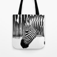 zebra Tote Bags featuring Zebra by Regan's World