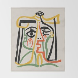 Picasso - Woman's head #1 Throw Blanket