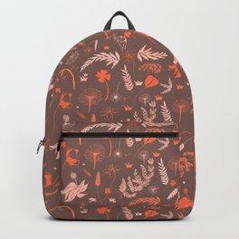 Brown + Orange Spring Folliage SS18 Backpack