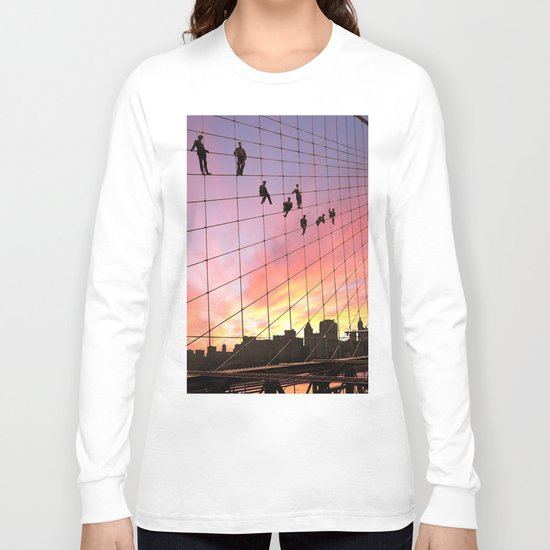 Brooklyn Bridge Painters Quitting Time Long Sleeve T-shirt