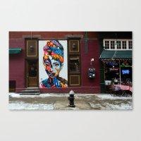 hepburn Canvas Prints featuring Hepburn by ArpanDholi