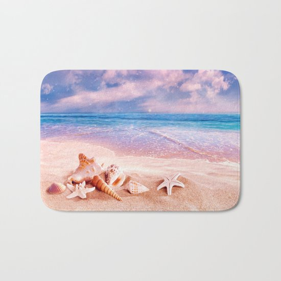 On the beach Bath Mat