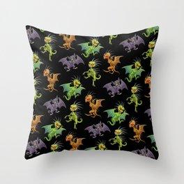 Mexican Chupacabras Original depictions Throw Pillow