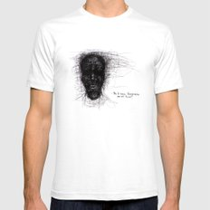 Scribble Face Mens Fitted Tee White SMALL