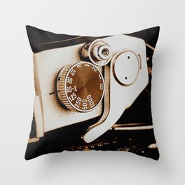 Old School Photography Throw Pillow