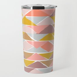 Contemporary Abstract Shape Pattern Travel Mug