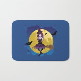 Full moon and witch Bath Mat