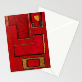 Detached, Abstract Shapes Art Stationery Cards