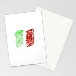 flag of Italia chalk- Italy,Italia,Italian,Latine,Roma,venezia,venice,mediterreanean,Genoa,firenze Stationery Cards