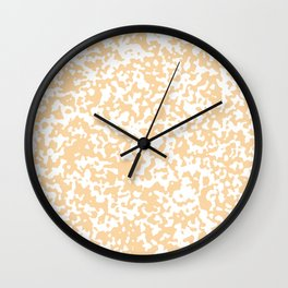 Small Spots - White and Sunset Orange Wall Clock