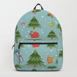 Christmas Elements Christmas Trees Design Backpack