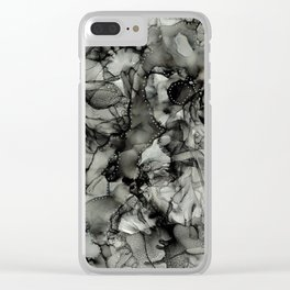 Chaos in Black and White Clear iPhone Case
