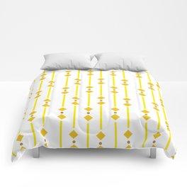 geometric design yellow rhombuses Comforters