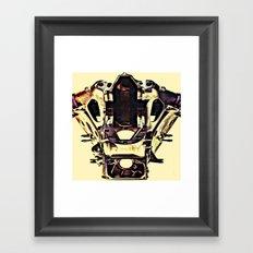 MEKANIKSKULL Framed Art Print