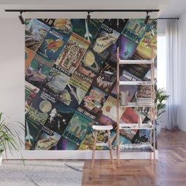 Mosaic - retro space travel Wall Mural