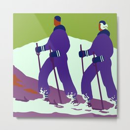 Winter in the Alps Metal Print