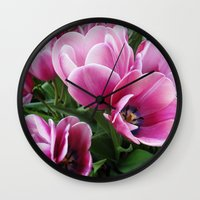 tulips Wall Clocks featuring tulips by Liudvika's Lens