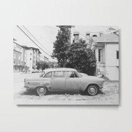 VINTAGE CAR (B+W) Metal Print