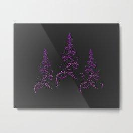 Christmas tree - fractal Metal Print
