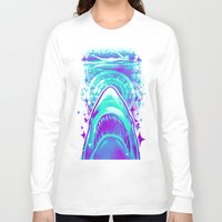 jaws Long Sleeve T-shirts featuring Jaws by Retkikosmos