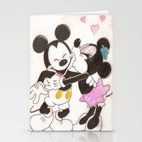 minnie Stationery Cards featuring Mickey & Minnie by karl oconnor