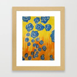 Blue Rose Fall Framed Art Print