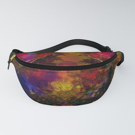 Stereo Trippin' Psychedelic Fractal Fanny Pack