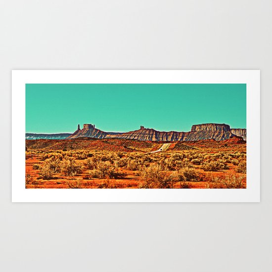 Long Road West Art Print