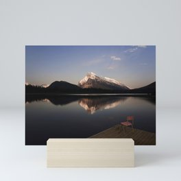 Mount Rundle At Sunset. Mini Art Print