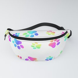 Color Puppy Paws Fanny Pack