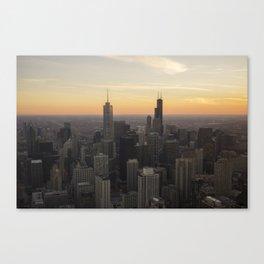 Chicago Skyline at Sunset Canvas Print