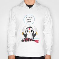 chef Hoodies featuring Penguin Chef by Freeminds