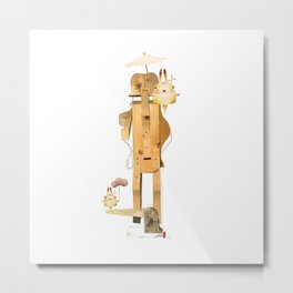 The tree man and the time rabbit Metal Print