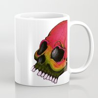 rasta Mugs featuring Rasta Skull by Alyssa Barclay