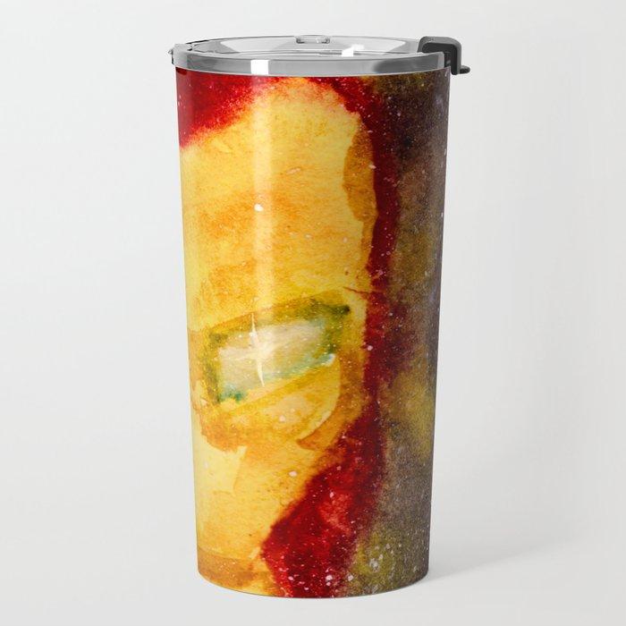Space Iron Mask Travel Mug