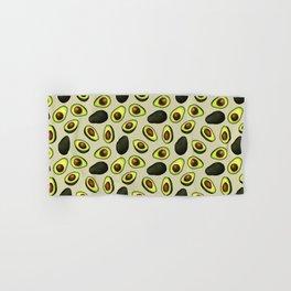 Dancing Millennial Avocados on Beige, Ditsy print Hand & Bath Towel