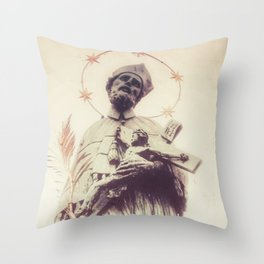 Prague Statue Throw Pillow