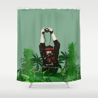 photographer Shower Curtains featuring Photographer by ELCORINTIO