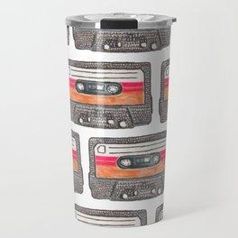 Cassette Pattern *Orange Travel Mug