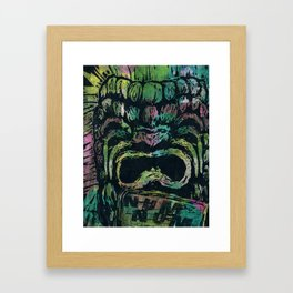 Mr. Tiki Framed Art Print