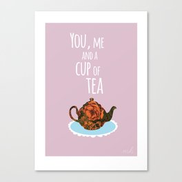 Tea for Two (lilac) Canvas Print
