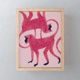 Red Monkeys Framed Mini Art Print