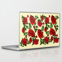 roses Laptop & iPad Skins featuring roses  by mark ashkenazi