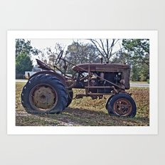 Old Tractors Never Die Art Print