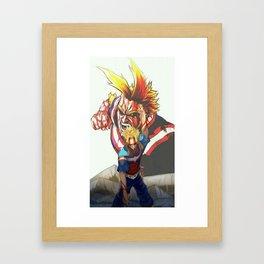 All Might Framed Art Print