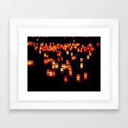 Floating Laterns Framed Art Print