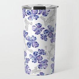 Hydrangea Blooms in Purple Travel Mug